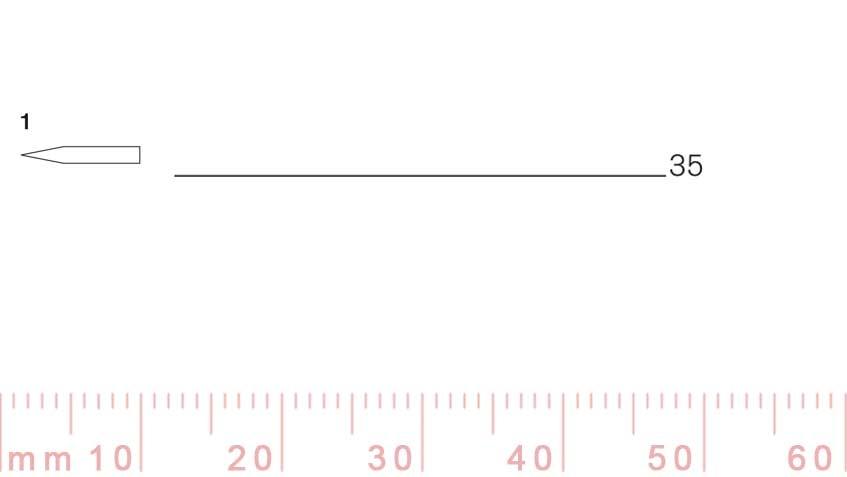 1/35-1/35, Pfeil, Gubia Recta corte 1, 35mm, doble bisel, plana-max-1.