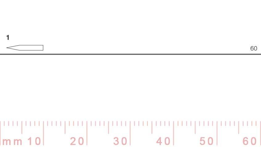 1/60-1/60, Pfeil, Gubia Recta corte 1, 60mm, doble bisel, plana-max-1.