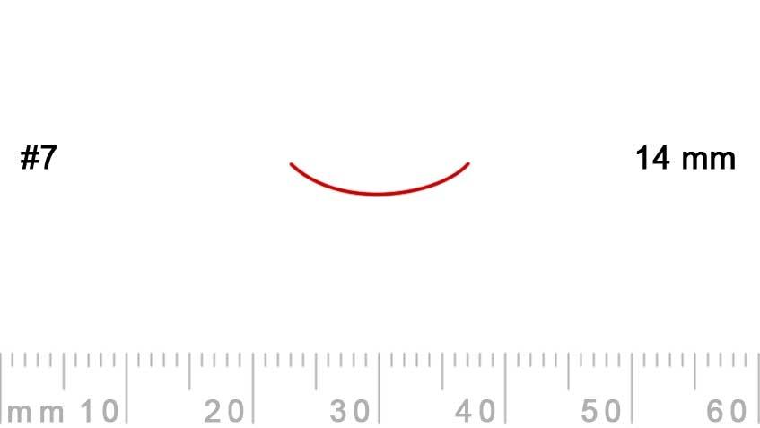 7/14-7/14, Pfeil, Gubia Recta corte 7, 14mm, curvada-max-1.