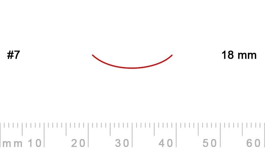 7/18-7/18, Pfeil, Gubia Recta corte 7, 18mm, curvada-max-1.