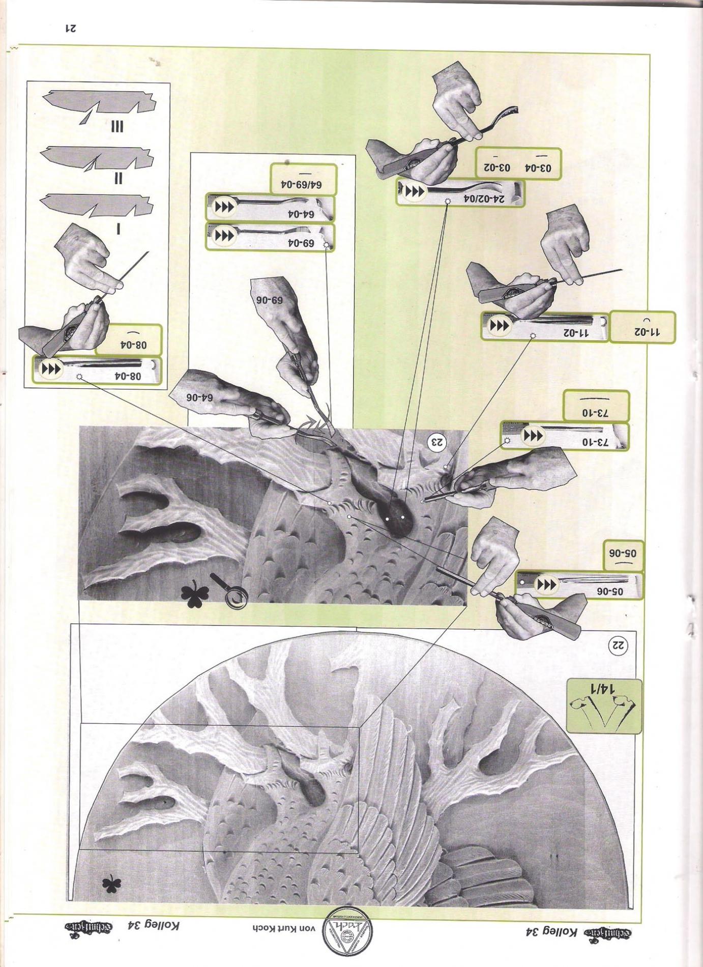 Koch_34-Revista KOCH 34 Aprende tallar aves alto relieve-max-3.