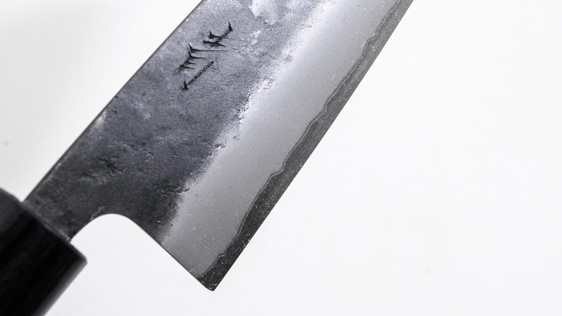 BS-16905-Cuchillo Santoku 165mm Aogami Blue Super+clad inox Kurouchi BS-16905-max-5.