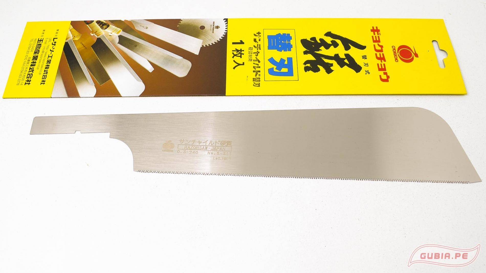 RsS311-Hoja de repuesto usuba al hilo 20TPI 24cm Gyokucho RsS311-max-1.