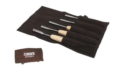 894510-Set de 5 gubias para principiante + escuche de cuero Narex 894510-max-1.