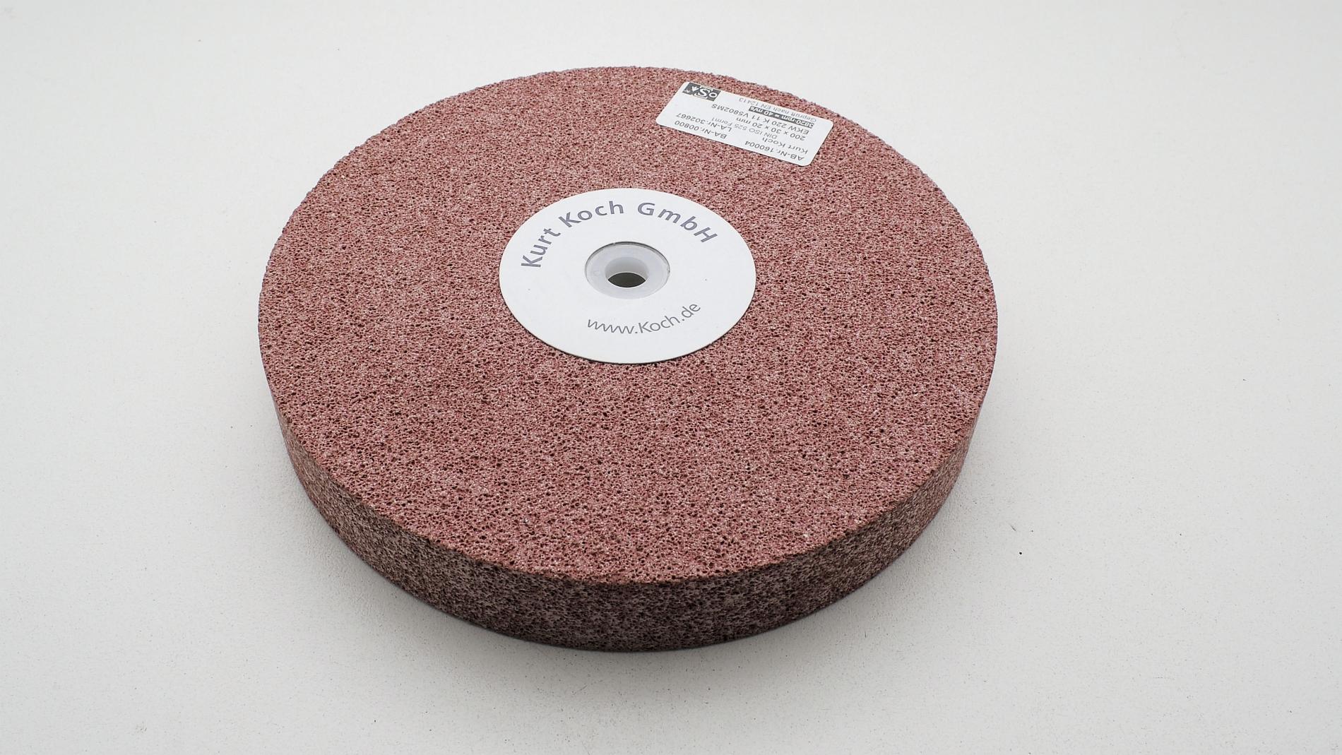 HT50235-Disco de esmeril cerámico 200X30mm Grano 220  sin destemplar acero KOCH HT50235-max-1.