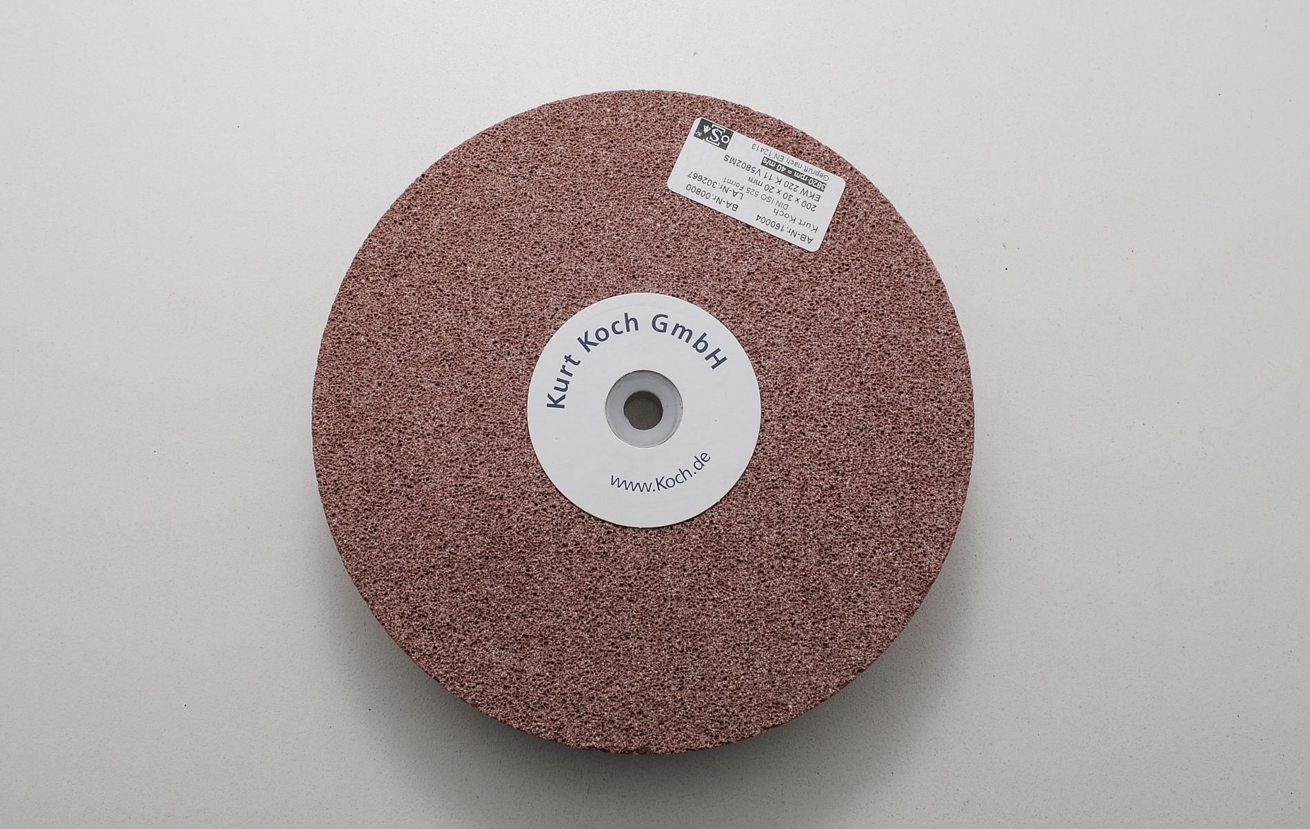 HT50235-Disco de esmeril cerámico 200X30mm Grano 220  sin destemplar acero KOCH HT50235-max-2.
