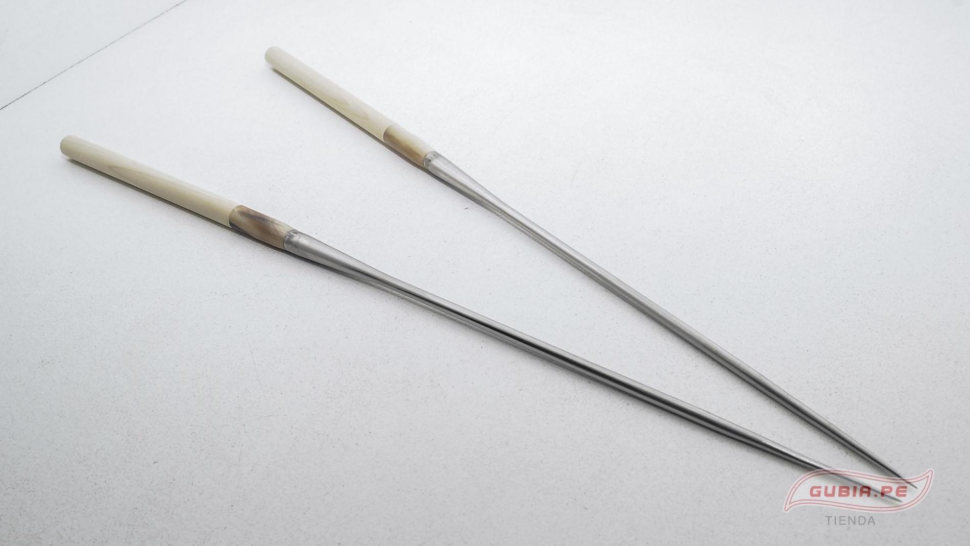 GUB0037-Palitos servir sushi Moribashi Chopsticks metal 21cm GUB0037-max-3.