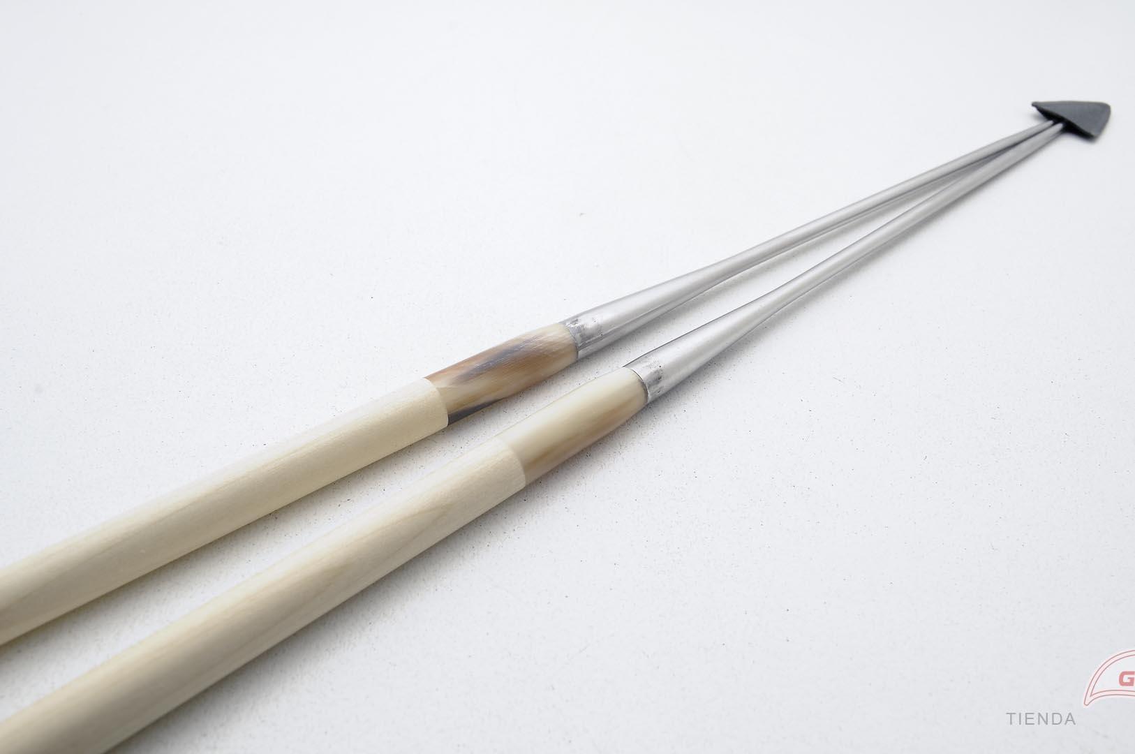 GUB0037-Palitos servir sushi Moribashi Chopsticks metal 21cm GUB0037-max-6.
