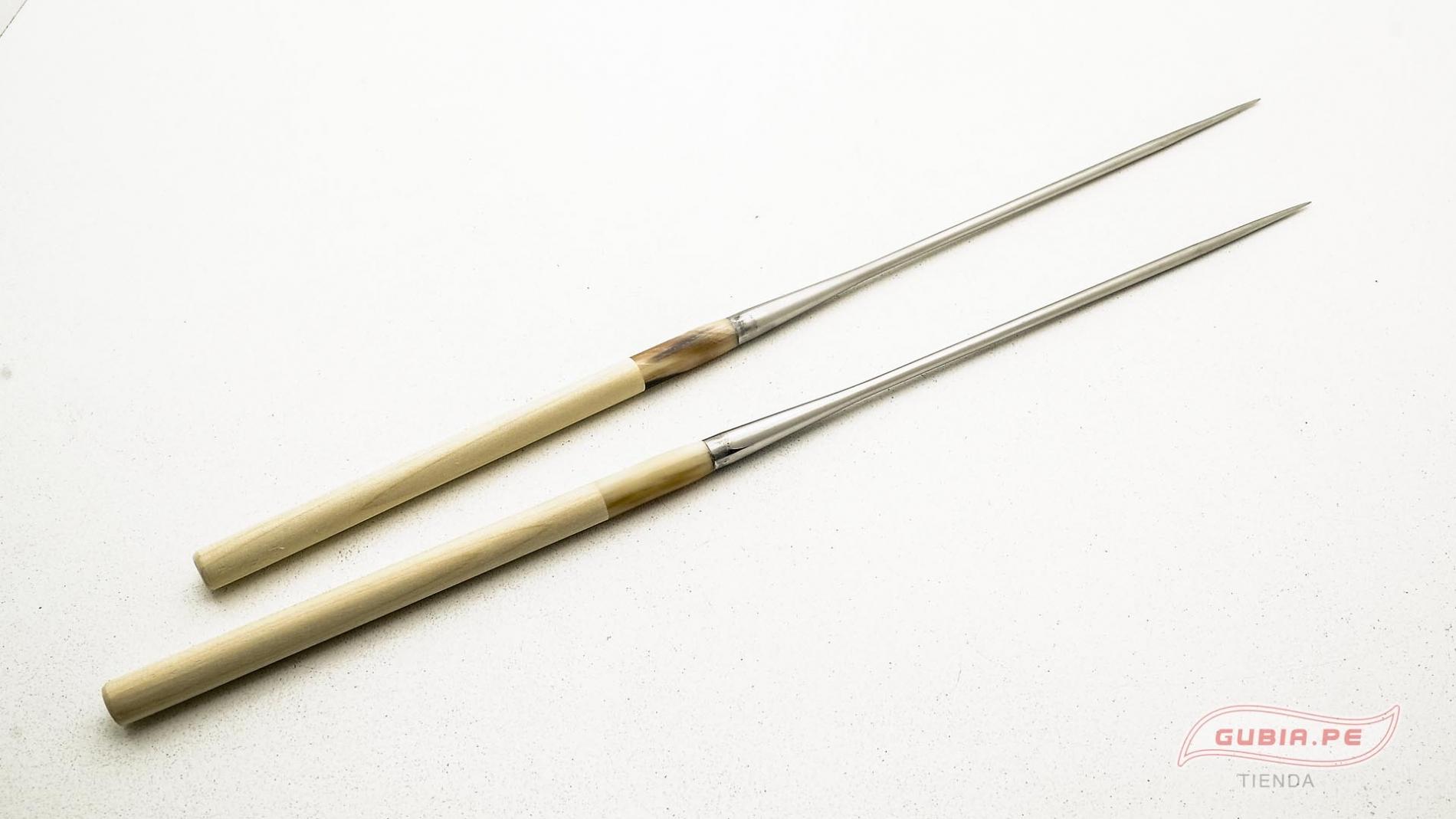 GUB0037-Palitos servir sushi Moribashi Chopsticks metal 21cm GUB0037-max-1.