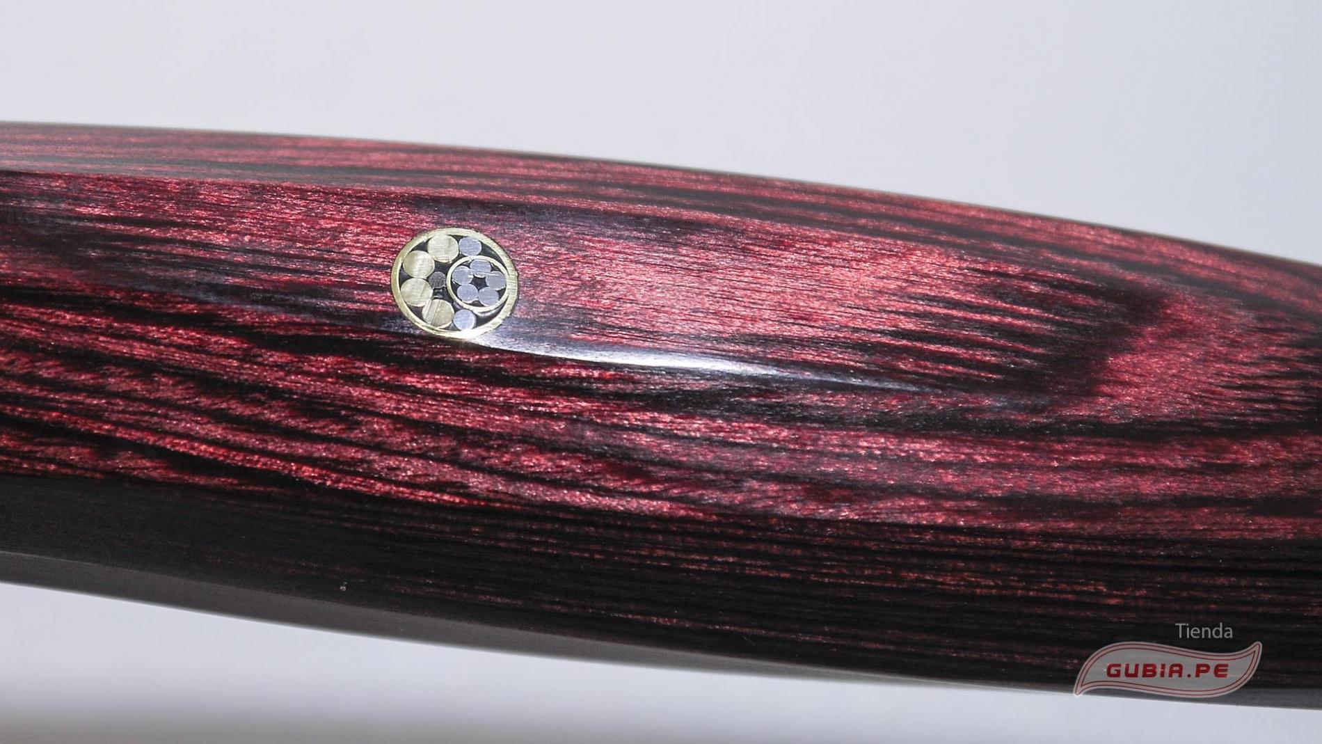 ZRR-1206G-Cuchillo Kiritsuke rojo 23cm acero SPG2 三昧 Revolution Zanmai ZRR-1206G-max-3.