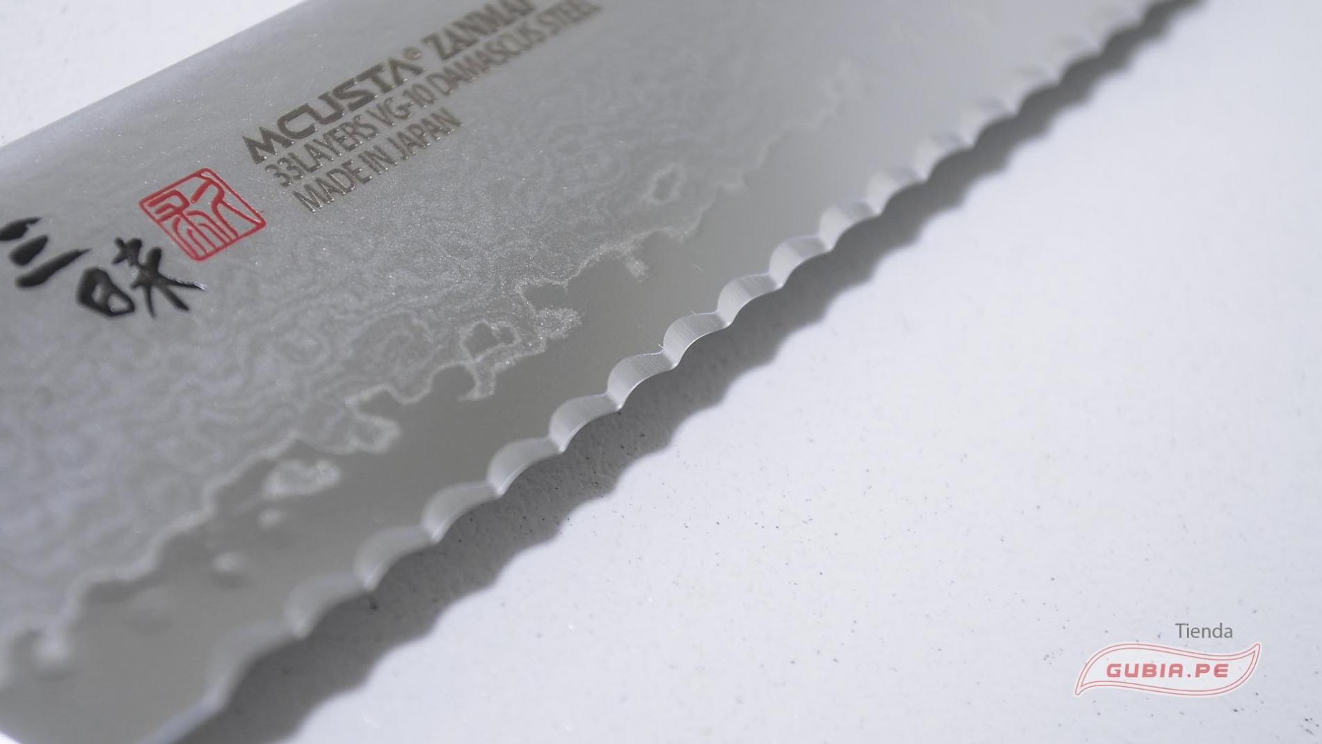 HFR-8014D-Cuchillo Bread Knife 23 cm acero VG10 Classic Pro Damascus Zanmai HFR-8014D-max-1.