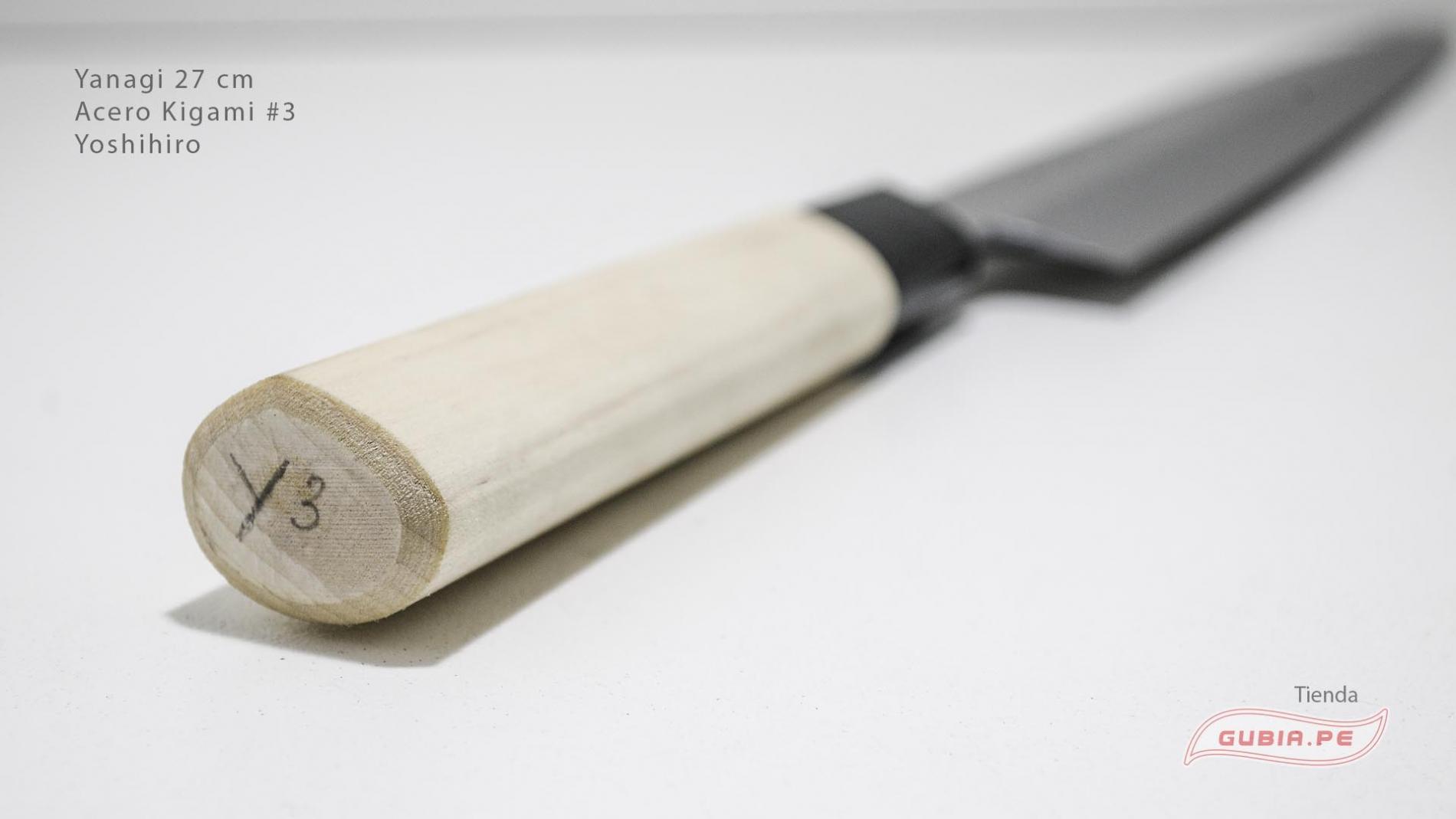 y27k3-Cuchillo Yanagi 27 cm acero Kigami #3 Yoshihiro y27k3-max-5.