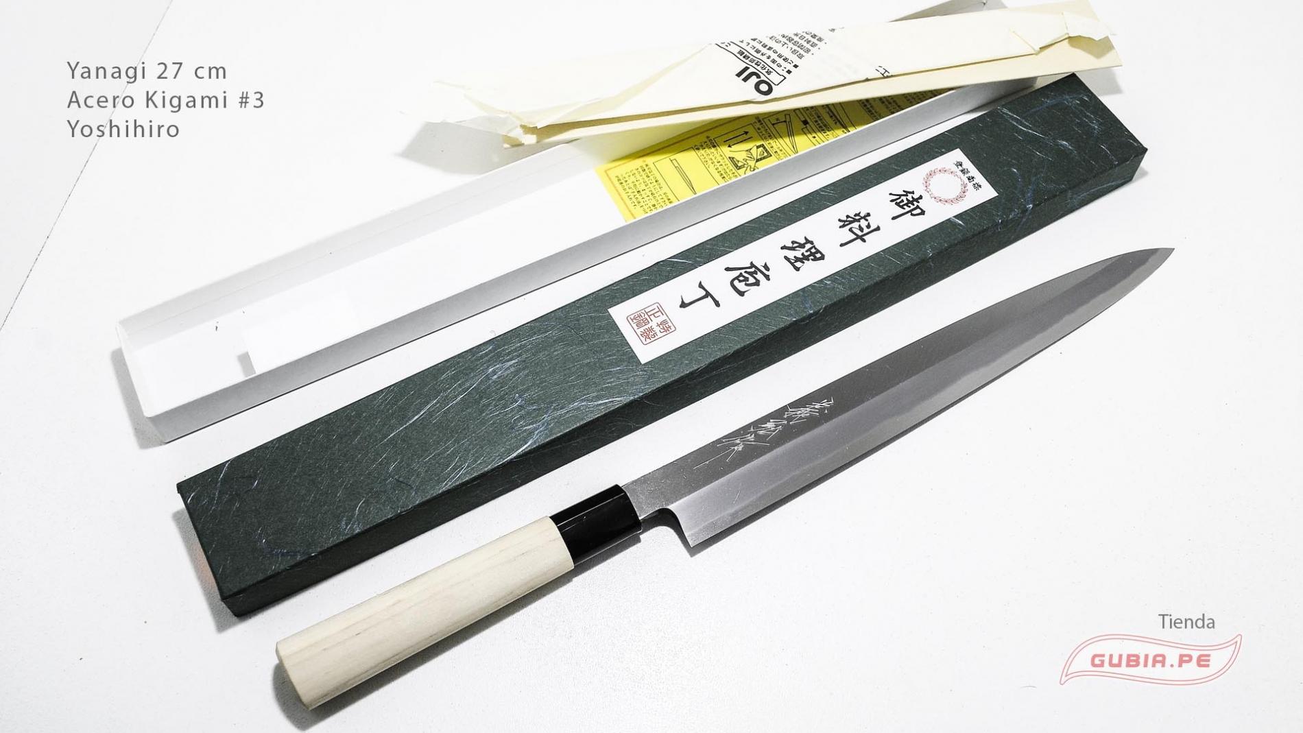 y27k3-Cuchillo Yanagi 27cm acero Kigami #3 Yoshihiro y27k3-max-1.