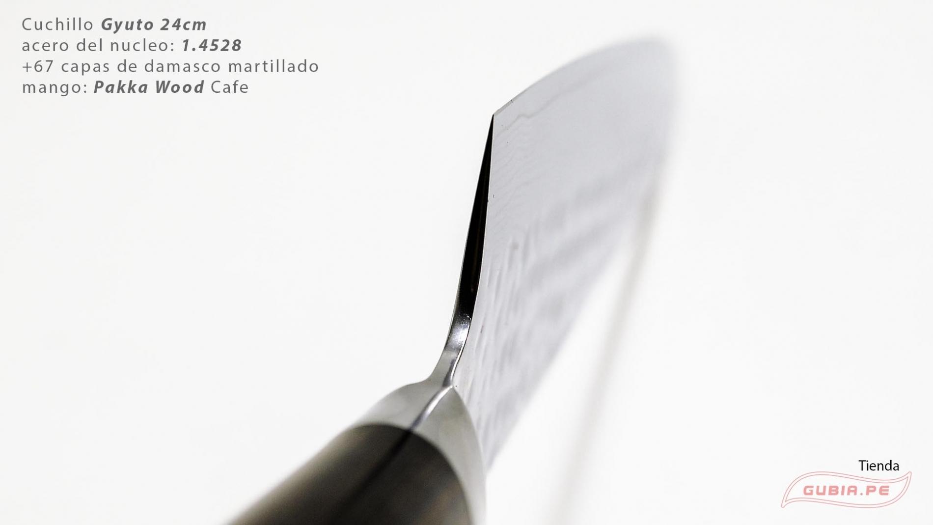 B1g24-Cuchillo Gyuto 24cm acero 1.4528+damasco Cafe B1g24-max-3.