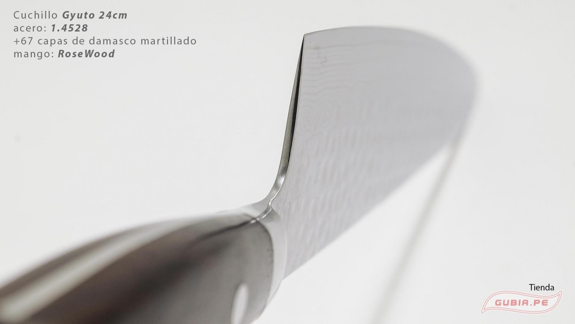 B9g24-Cuchillo Gyuto 24cm acero 1.4528+damasco Palo Rosa B9g24-max-4.