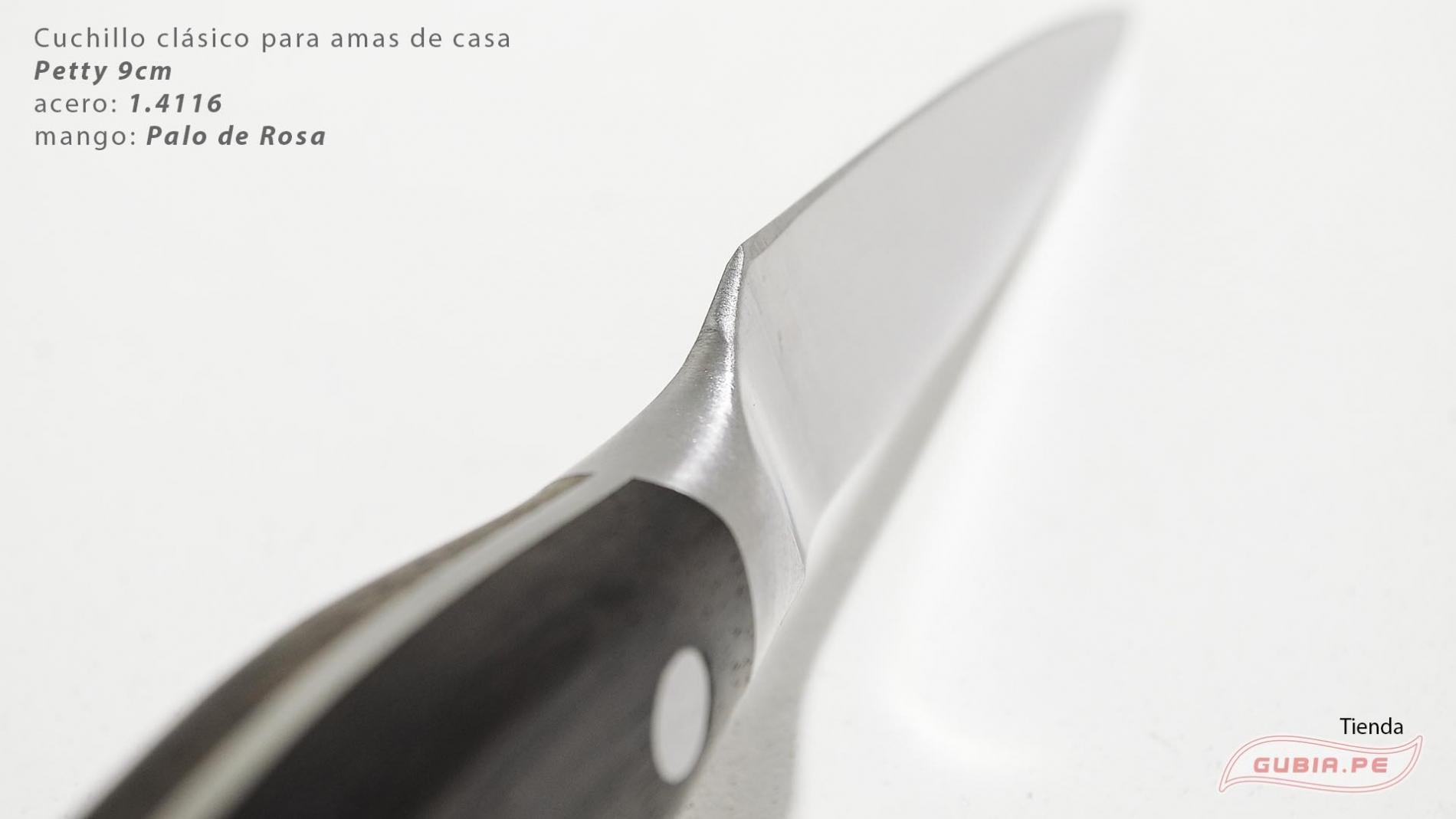 C1p9-Cuchillo Petty 9cm acero 1.4116 Palo de Rosa Clásico C1p9-max-3.