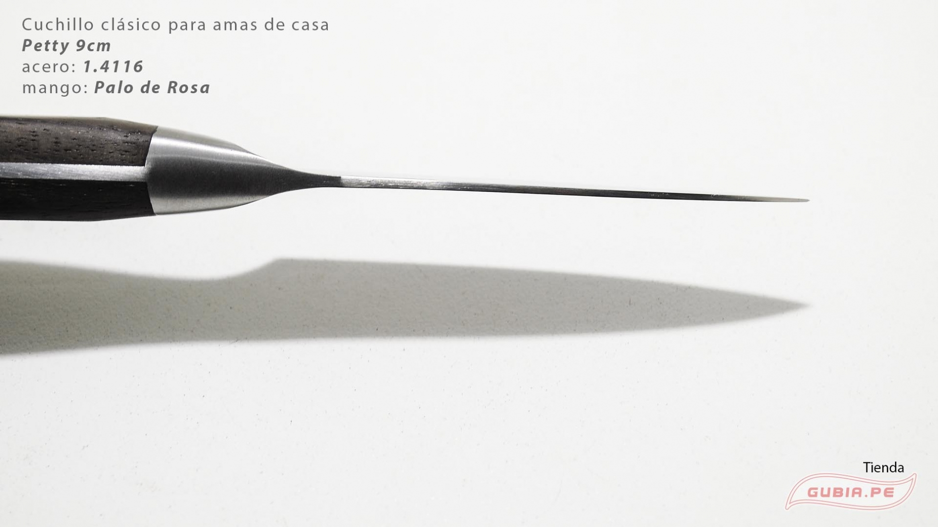 C1p9-Cuchillo Petty 9cm acero 1.4116 Palo de Rosa Clásico C1p9-max-4.