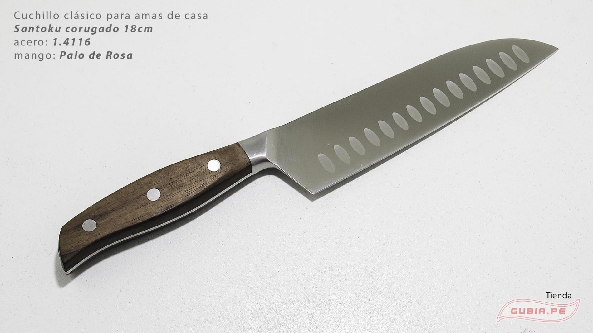 C1s18-Cuchillo Santoku 18cm  acero 1.4116 Palo de Rosa Clásico C1s18-max-1.