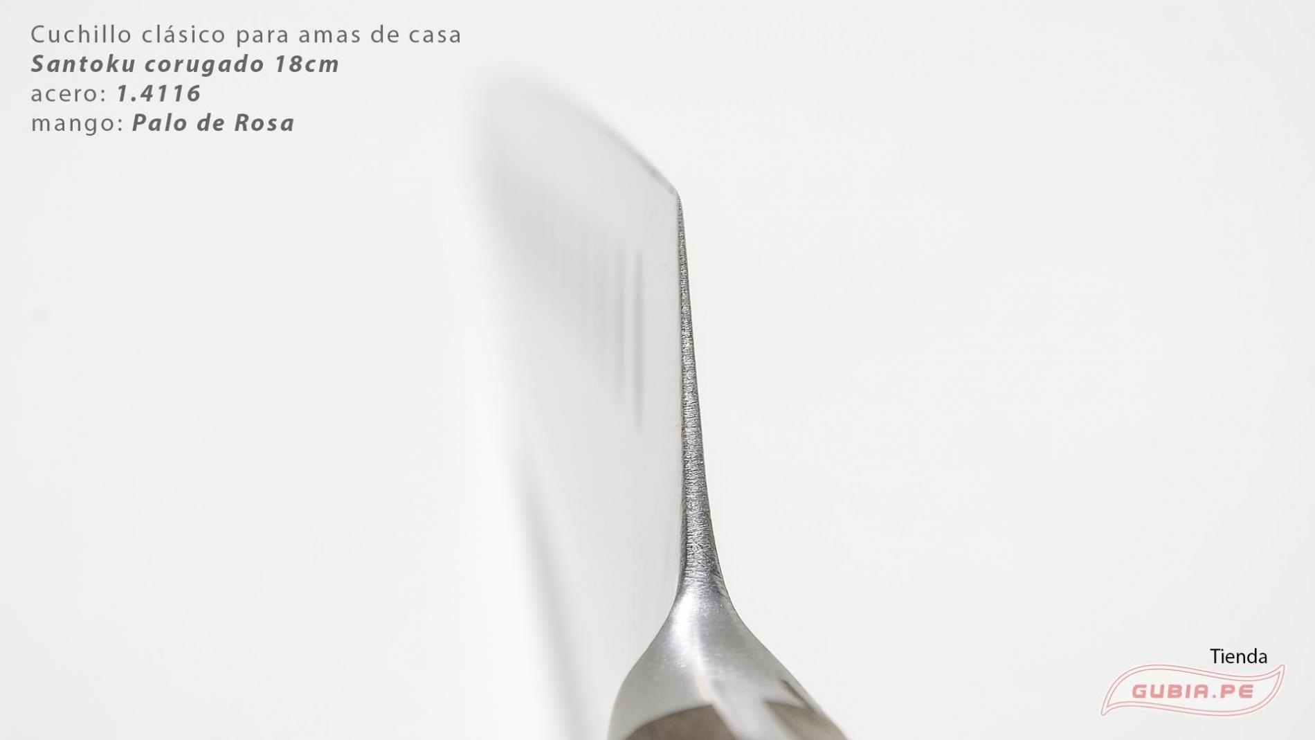 C1s18-Cuchillo Santoku 18cm  acero 1.4116 Palo de Rosa Clásico C1s18-max-4.