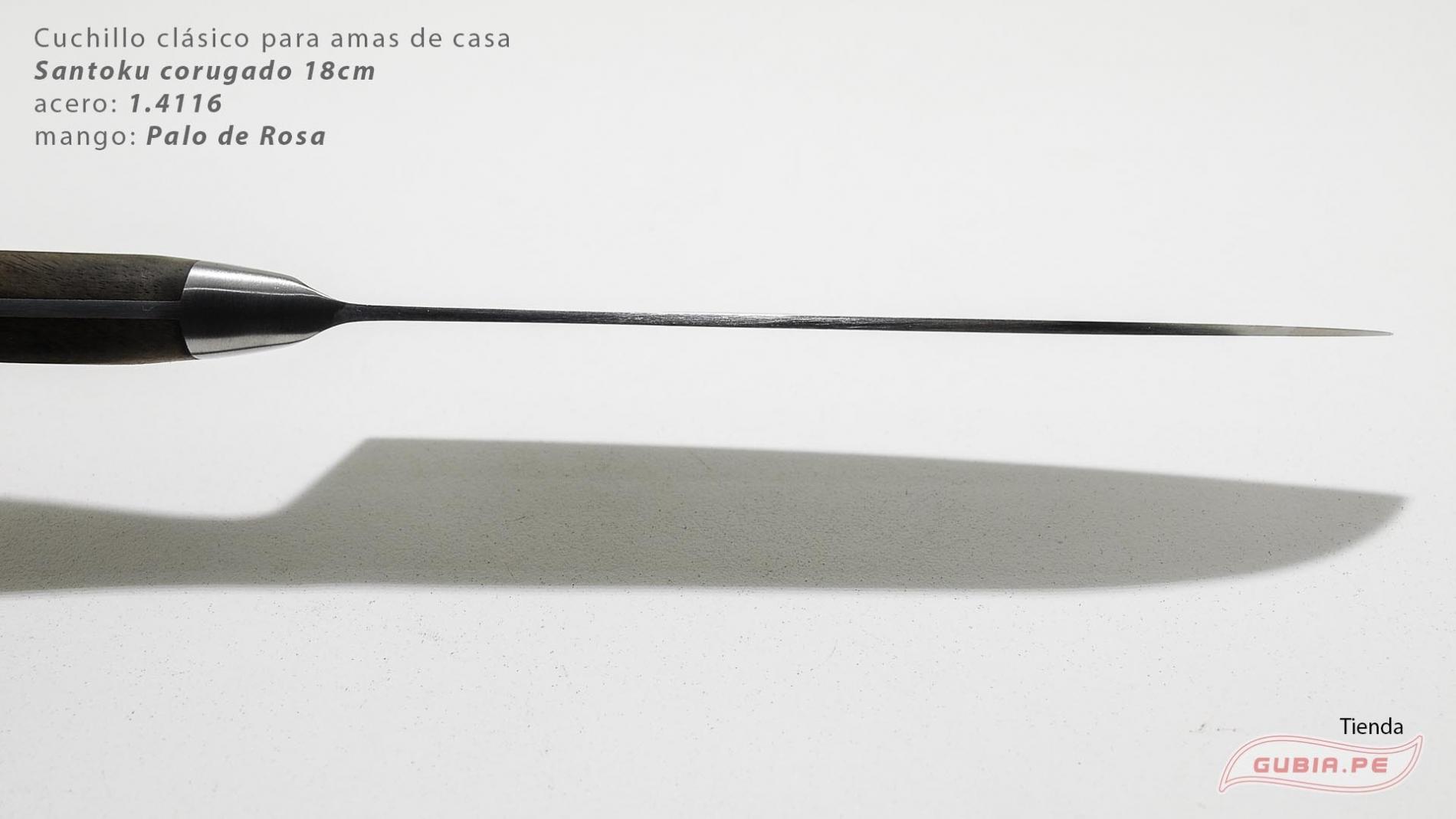 C1s18-Cuchillo Santoku 18cm  acero 1.4116 Palo de Rosa Clásico C1s18-max-5.