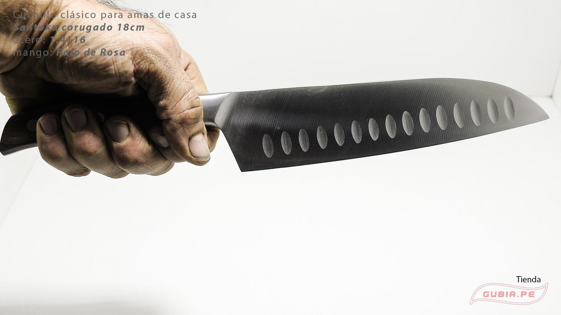 C1s18-Cuchillo Santoku 18cm  acero 1.4116 Palo de Rosa Clásico C1s18-max-6.