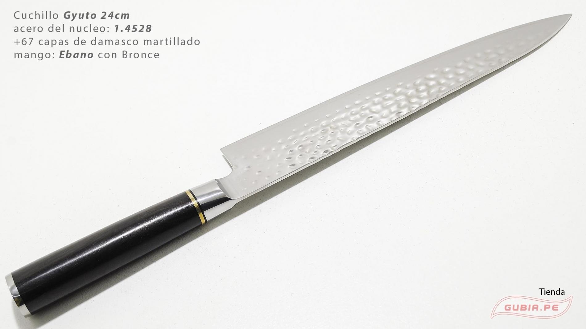 B1zEg24-Cuchillo Gyuto 24cm acero 1.4528+damasco Ebano+Bronce B1zEg24-max-3.