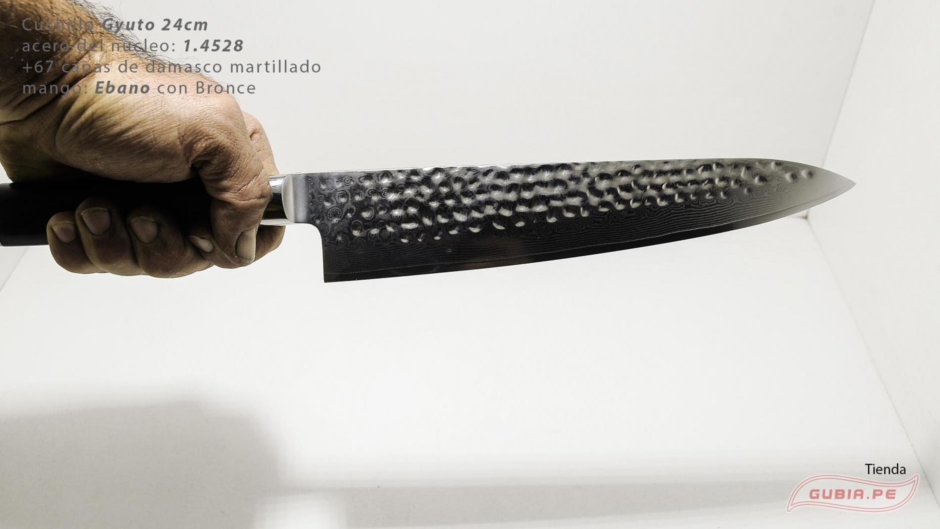 B1zEg24-Cuchillo Gyuto 24cm acero 1.4528+damasco Ebano+Bronce B1zEg24-max-7.