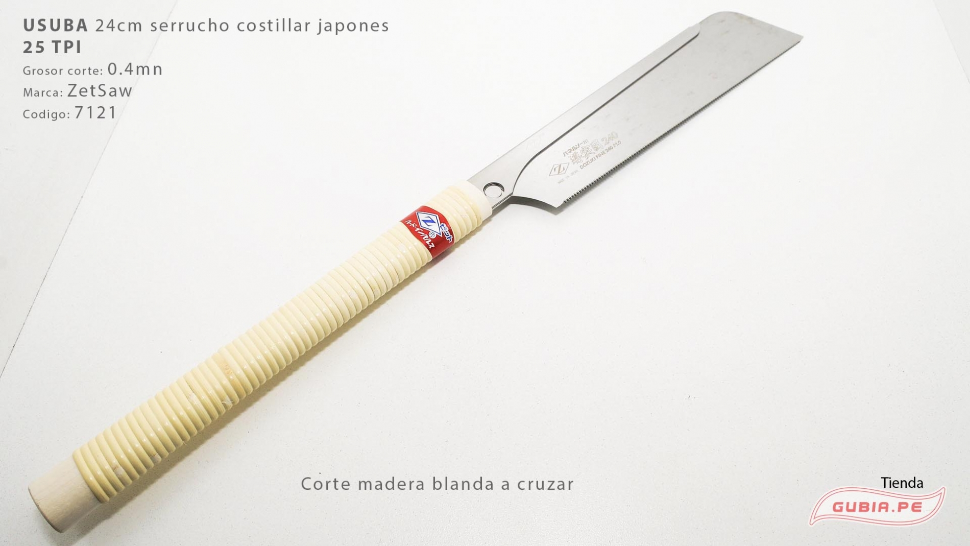 07121-Usuba 24cm madera blanda 25TPI corte a cruzar ZetSaw 07121-max-2.