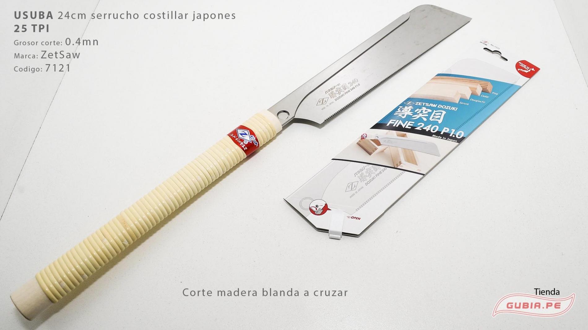07121-Usuba 24cm madera blanda 25TPI corte a cruzar ZetSaw 07121-max-3.