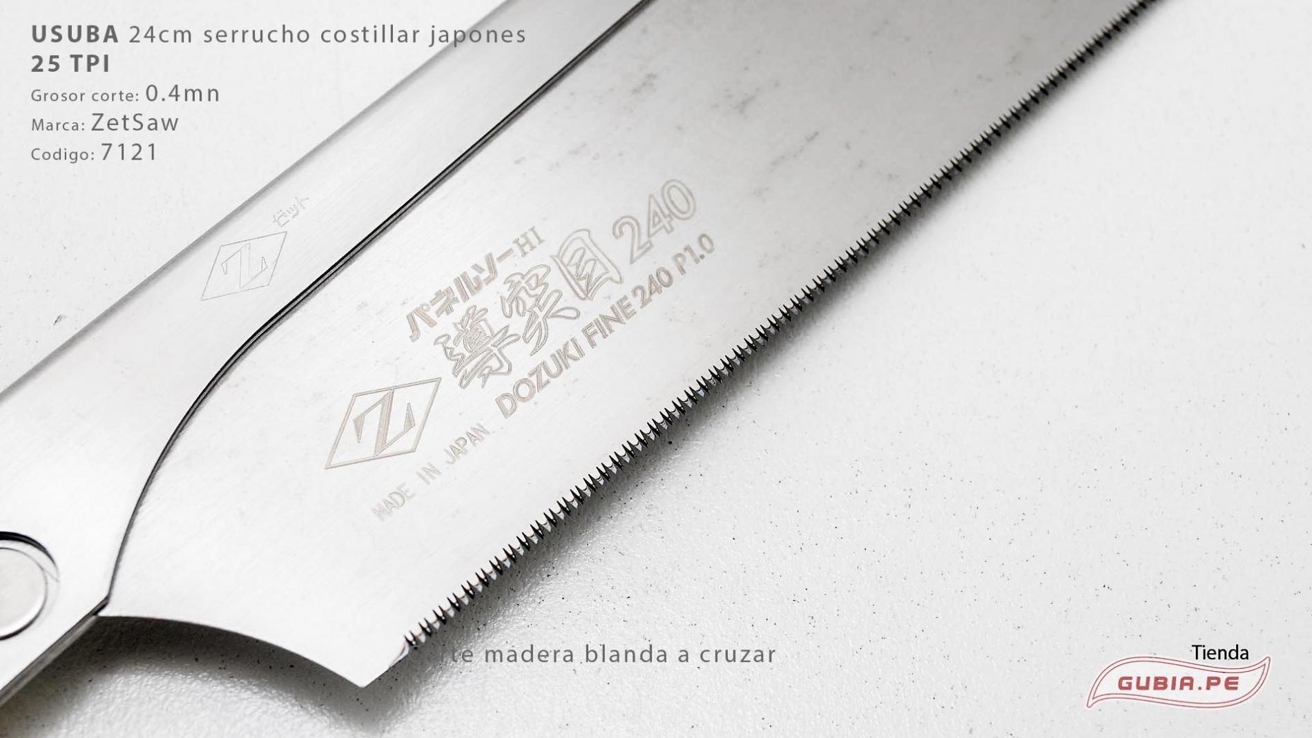 07121-Usuba 24cm madera blanda 25TPI corte a cruzar ZetSaw 07121-max-4.