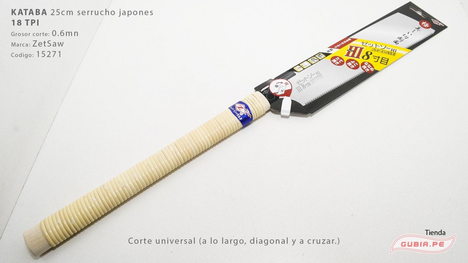 15271-Kataba 18TPI corte universal 25cm ZetSaw 15271-max-2.