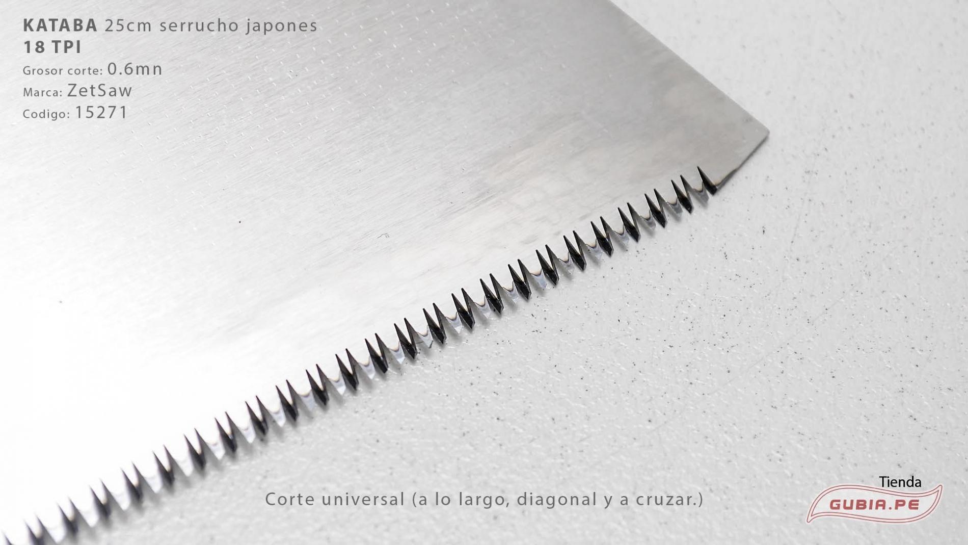 15271-Kataba 18TPI corte universal 25cm ZetSaw 15271-max-3.