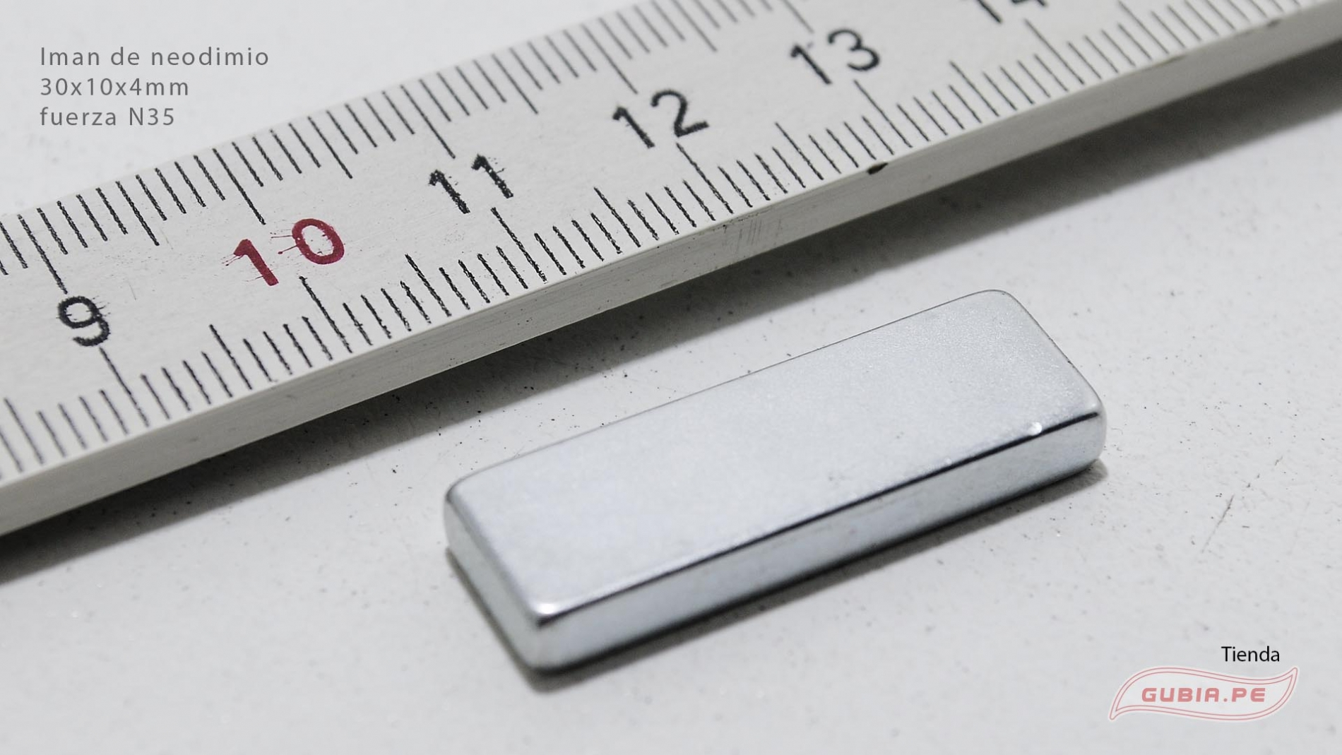GUB0079-Iman de neodimio 30x10x4mm fuerza N35 GUB0079-max-1.