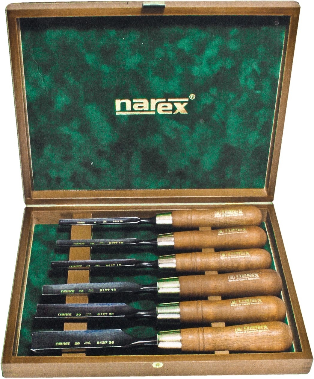 853300-Juego de gubias 6pz FUERTES en caja de madera NAREX 853300-max-1.