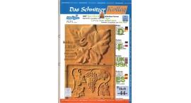 Koch_44-Revista KOCH 44 Aprende tallar en madera uvas, hojas alto relieve avanzado.