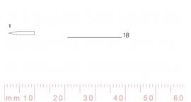 1/18-1/18, Pfeil, Gubia Recta corte 1, 18mm, doble bisel, plana.