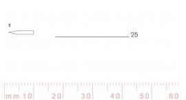 1/25-1/25, Pfeil, Gubia Recta corte #1, 25mm, doble bisel, plana.