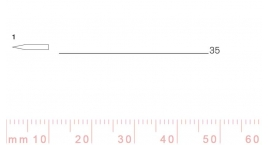 1/35-1/35, Pfeil, Gubia Recta corte #1, 35mm, doble bisel, plana.
