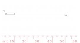 1/40-1/40, Pfeil, Gubia Recta corte 1, 40mm, doble bisel, plana.