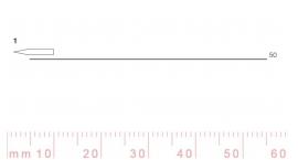 1/50-1/50, Pfeil, Gubia Recta corte #1, 50mm, doble bisel, plana.