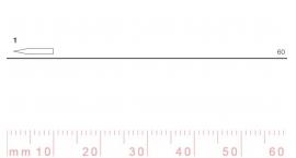 1/60-1/60, Pfeil, Gubia Recta corte #1, 60mm, doble bisel, plana.