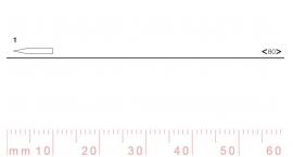 1/80-1/80, Pfeil, Gubia Recta corte #1, 80mm, doble bisel, plana.