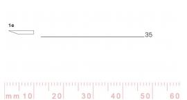 1/35e-1/35e, Pfeil, Gubia Recta corte #1e, 35mm, un bisel, plana.