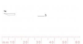 1/5e-1/5e, Pfeil, Gubia Recta corte #1e, 5mm, un bisel, plana.