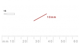 1s/10-1s/10, Pfeil, Gubia Recta corte 1s, 10mm, oblicua doble bisel, plana.