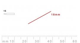 1s/18-1s/18, Pfeil, Gubia Recta corte 1s, 18mm, oblicua doble bisel, plana.