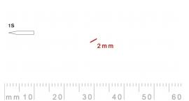 1s/2-1s/2, Pfeil, Gubia Recta corte 1s, 2mm, oblicua doble bisel, plana.