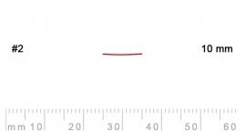 2/10-2/10, Pfeil, Gubia Recta corte 2, 10mm, semiplana.