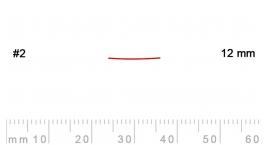 2/12-2/12, Pfeil, Gubia Recta corte 2, 12mm, semiplana.