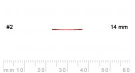 2/14-2/14, Pfeil, Gubia Recta corte 2, 14mm, semiplana.